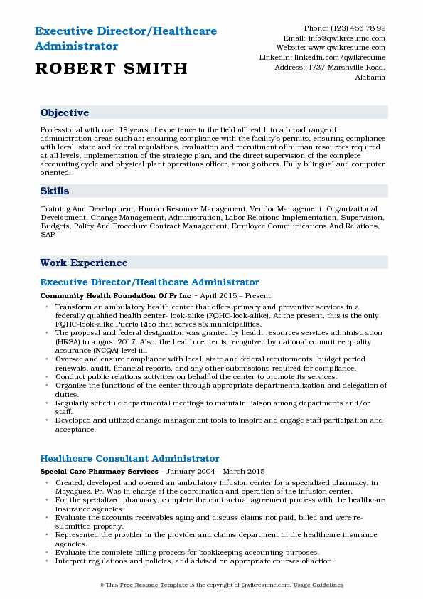 healthcare administrator resume samples qwikresume objective for medical field pdf two Resume Resume Objective For Medical Field