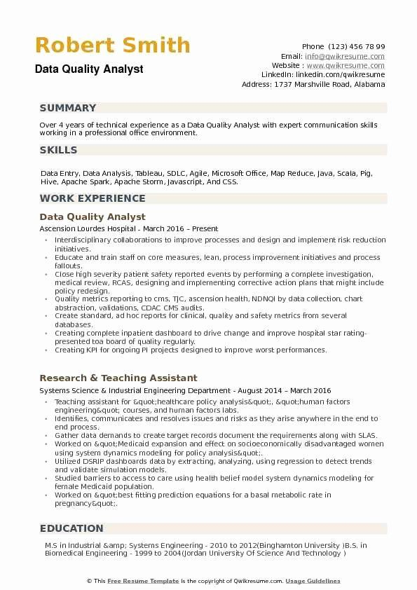 healthcare data analyst resume new quality samples in summary good examples professional Resume Healthcare Quality Analyst Resume