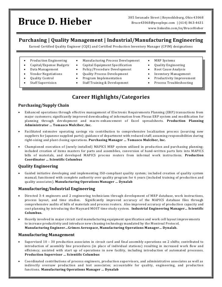 hieber bruce resume production planning and control engineer samples nanny sample Resume Production Planning And Control Engineer Resume Samples