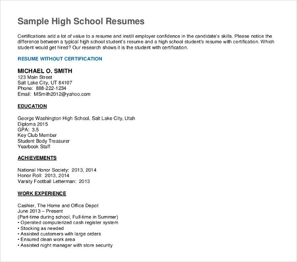 high school graduate resume templates pdf free premium objective for example ending Resume Resume Objective For High School Graduate