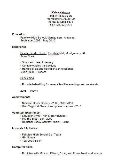 high school student resume example job examples first schooler sample pharmacy manager Resume High Schooler High School Resume Sample