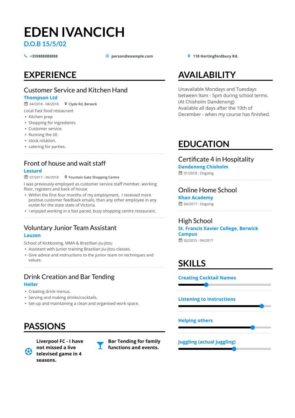 high school teen resume examples pro tips featured enhancv making for teens professional Resume Making A Resume For Teens