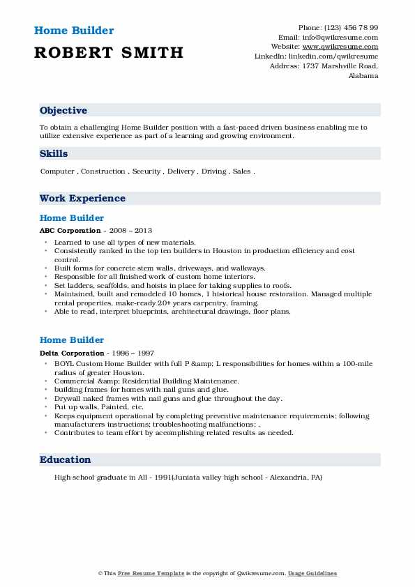 home builder resume samples qwikresume construction pdf professional photography Resume Home Construction Resume