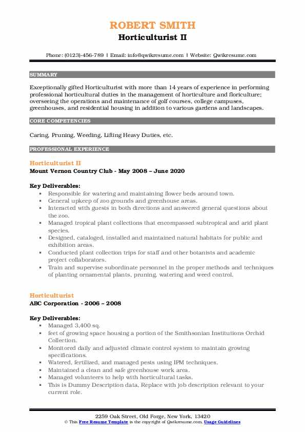 horticulturist resume samples qwikresume horticulture manager pdf professional email for Resume Horticulture Manager Resume