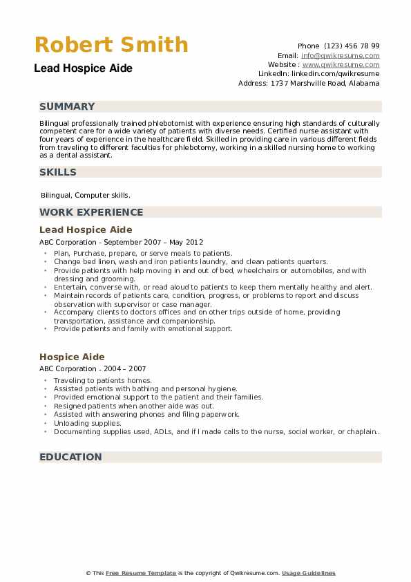 hospice aide resume samples qwikresume stna responsibilities pdf theory rf engineer for Resume Stna Responsibilities Resume