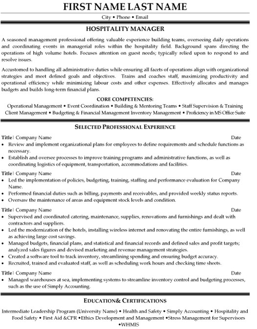 hospitality manager resume sample template examples mg career objective for fresh Resume Hospitality Resume Examples