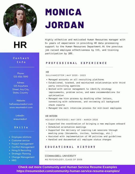hr resume samples and tips pdf resumes bot customer service examples example assistant Resume Customer Service Resume Examples 2020
