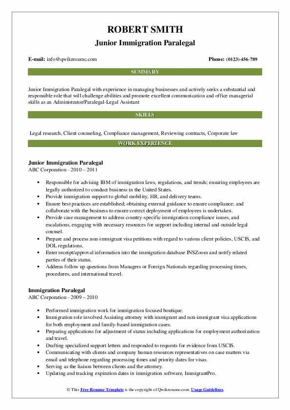 immigration paralegal resume samples qwikresume sample h1b visa application pdf Resume Sample Resume H1b Visa Application