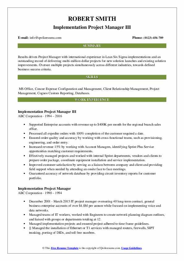 implementation project manager resume samples qwikresume pdf for research position great Resume Implementation Project Manager Resume