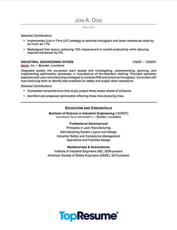 industrial engineering resume sample professional examples topresume summary for engineer Resume Professional Summary For Engineering Resume