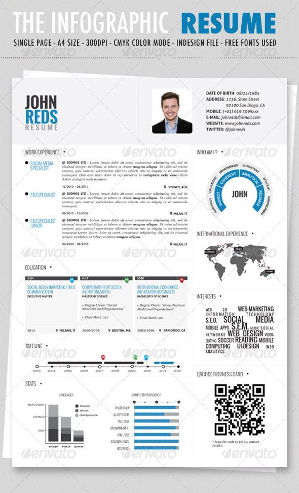 infographic resume vol graphic template microsoft word professional format fundraiser Resume Infographic Resume Template Microsoft Word