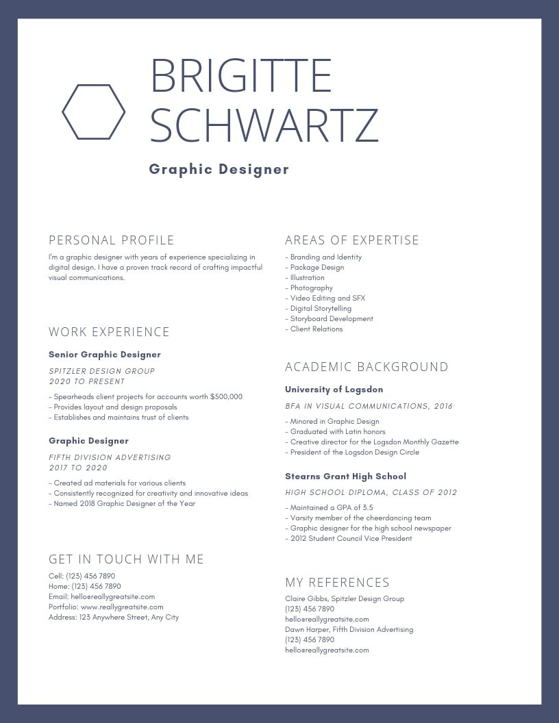 inspiring resume designs to learn from canva for fashion design student blue bordered Resume Resume For Fashion Design Student