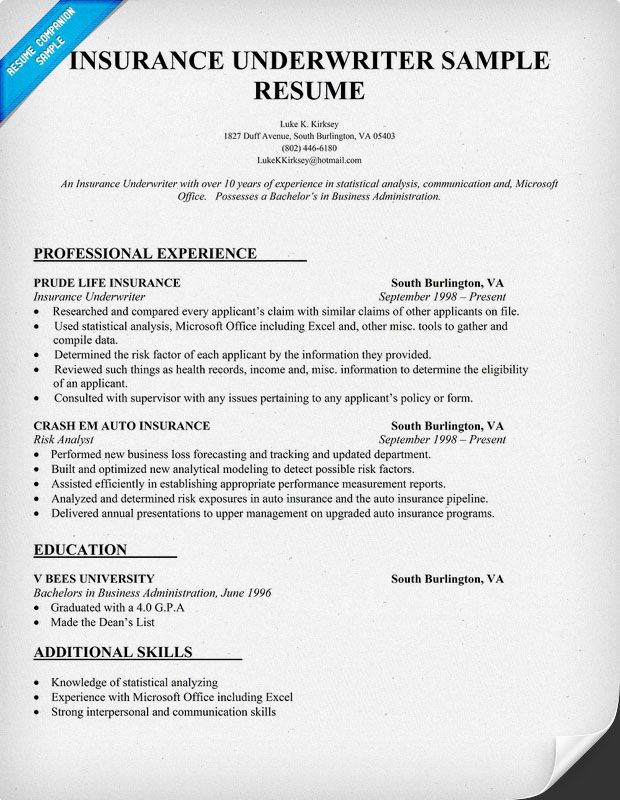 insurance underwriter job description for resume auto military bank credit analyst free Resume Auto Underwriter Resume