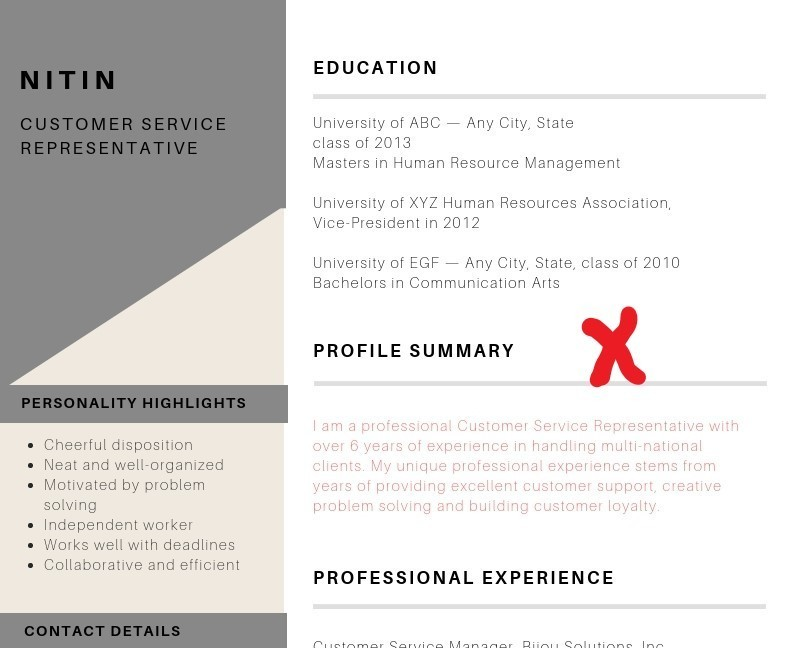 is resume profile summary headline or for wrong placement hospital administrator enhance Resume Headline Or Summary For Resume