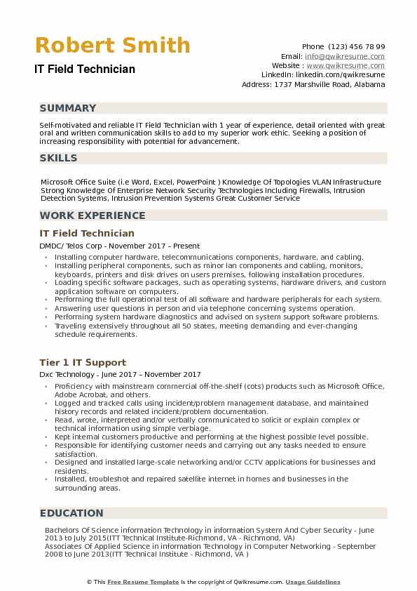 it field technician resume samples qwikresume pos sample pdf academic for college Resume Pos Technician Resume Sample