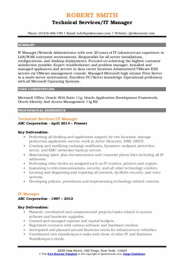 it manager resume samples qwikresume identity and access management examples pdf recent Resume Identity And Access Management Resume Examples