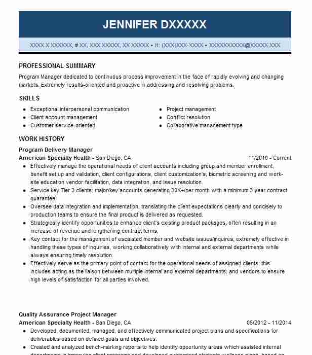 it program delivery manager resume example fulcrum worldwide edison new head sample Resume Delivery Head Resume Sample