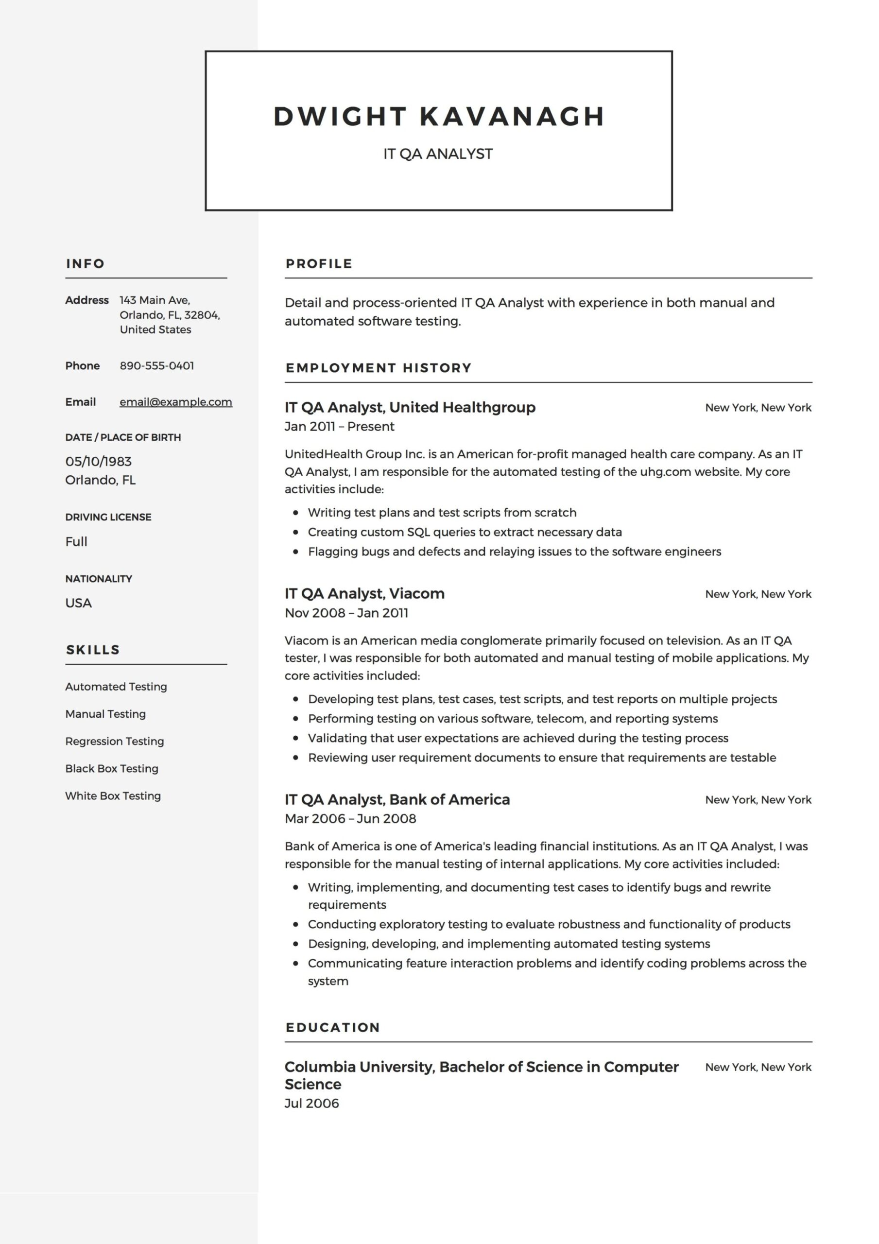 it qa analyst resume guide templates pdf healthcare quality example social science Resume Healthcare Quality Analyst Resume