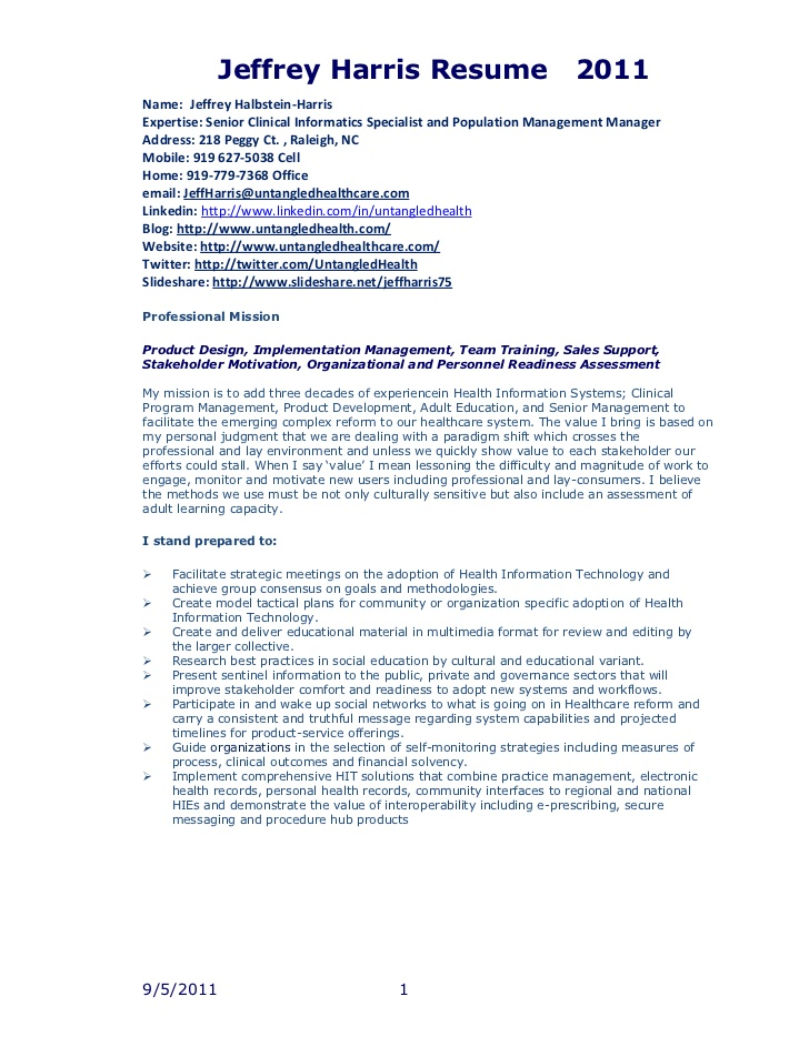 jfh resume clinical informatics specialist good volunteer experience for writing services Resume Clinical Informatics Specialist Resume