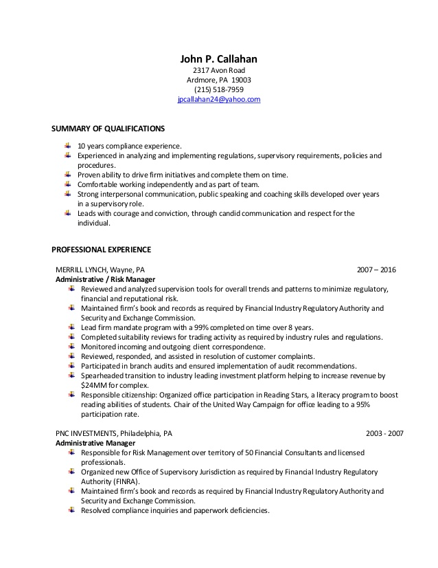john risk and compliance analyst resume sample brooklyn college magner center harvard law Resume Risk Analyst Resume Sample