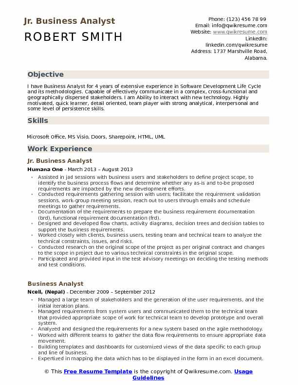jr business analyst resume samples qwikresume sample for experienced years pdf auto Resume Sample Resume For Experienced Business Analyst 2 Years