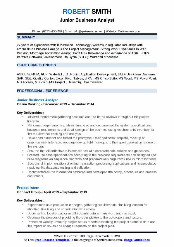 jr business analyst resume samples qwikresume sample for experienced years pdf free Resume Sample Resume For Experienced Business Analyst 2 Years