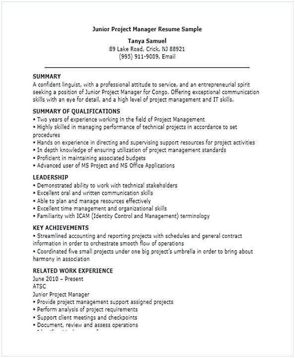 junior project manager resume for position many of us interested in being ma objective Resume Dispensary Manager Resume Examples