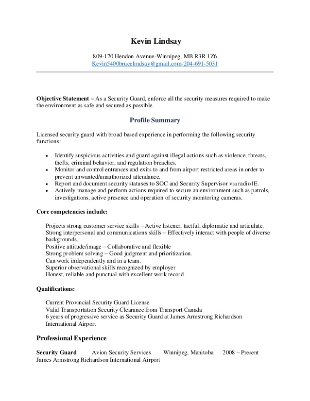 kevin lindsay security guard resume for beginners nail technician examples best Resume Security Guard Resume For Beginners