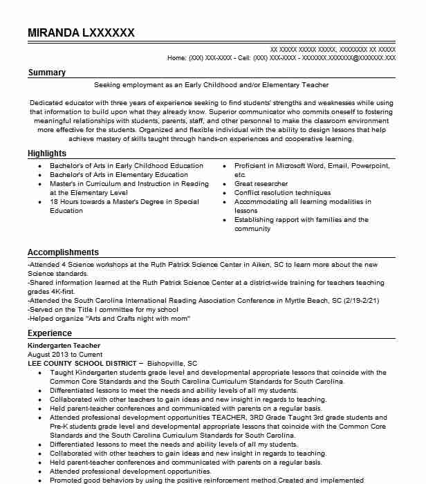 kindergarten teacher resume example the goddard school skills sending via email crawler Resume Kindergarten Teacher Skills Resume