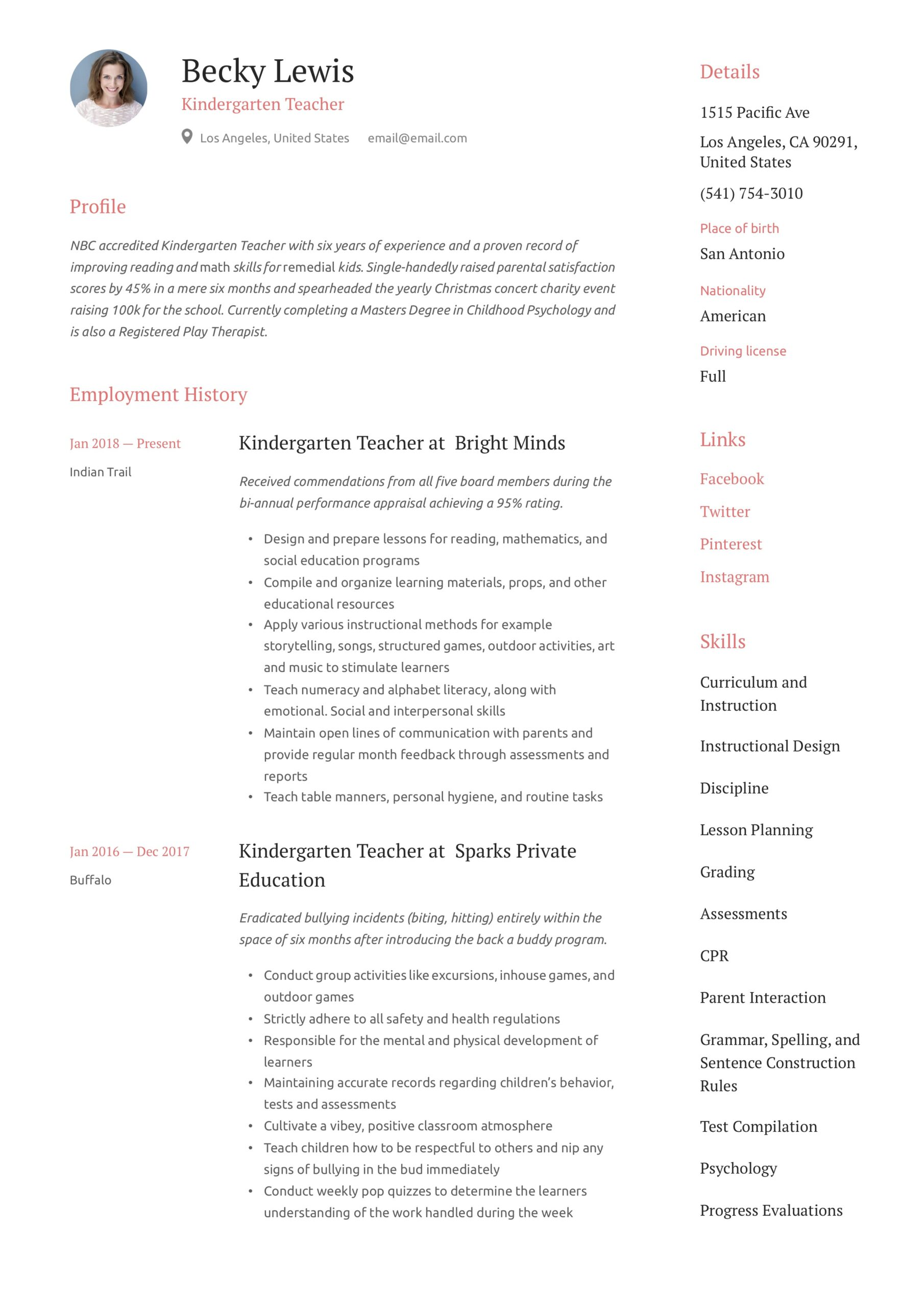 kindergarten teacher resume writing guide examples skills crawler special on technical Resume Kindergarten Teacher Skills Resume