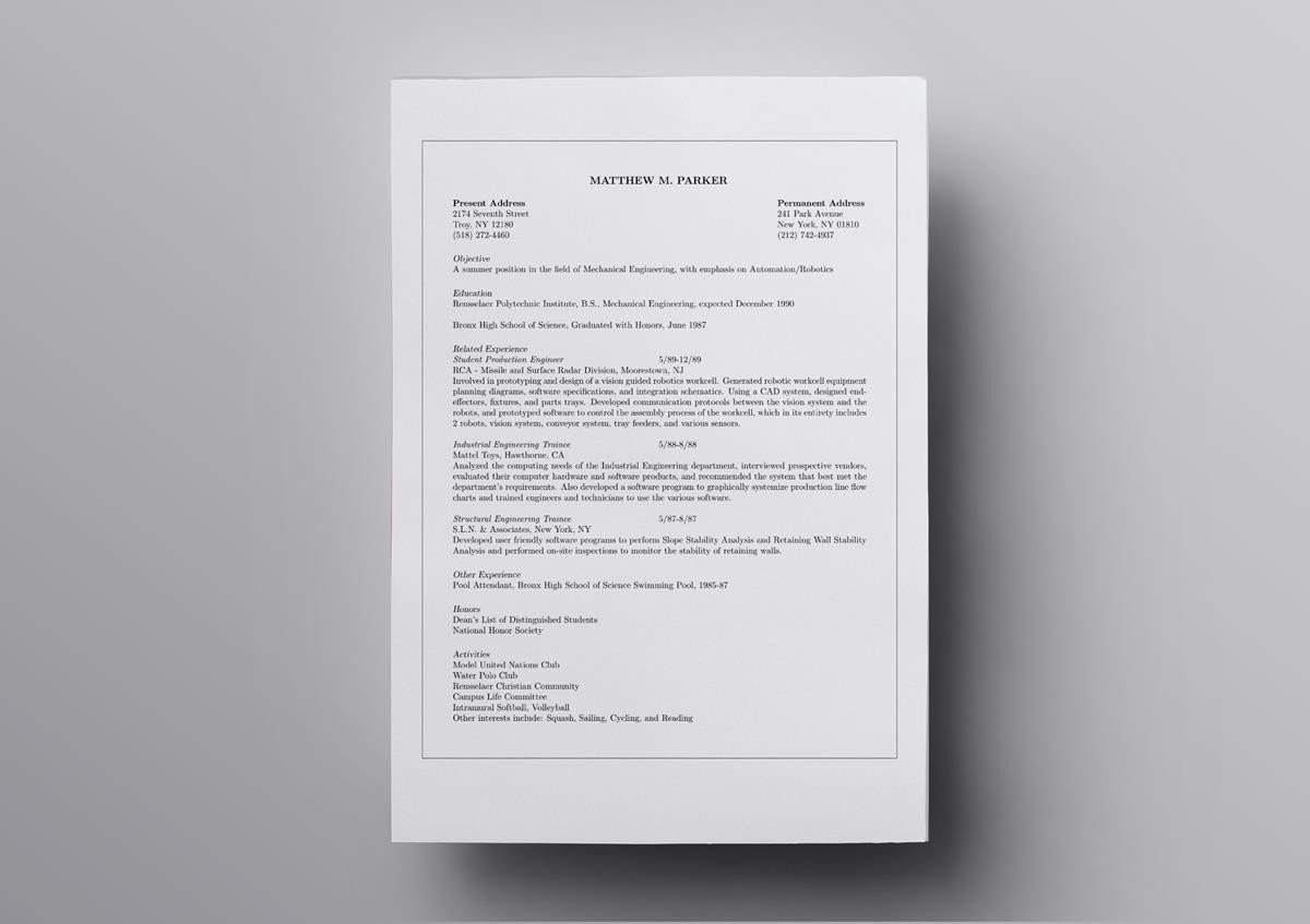 latex resume templates cv overleaf template for software engineer scholastic objective Resume Overleaf Resume Template For Software Engineer