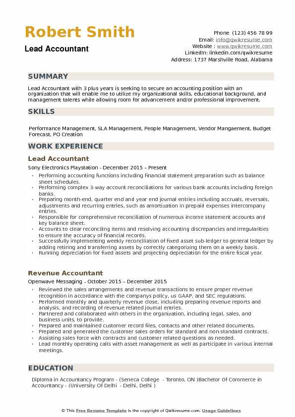 lead accountant resume samples qwikresume professional summary pdf fire officer examples Resume Professional Summary Accountant Resume