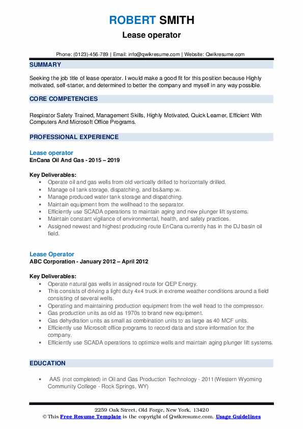 lease operator resume samples qwikresume oil and gas examples pdf medical liaison sample Resume Oil And Gas Resume Examples