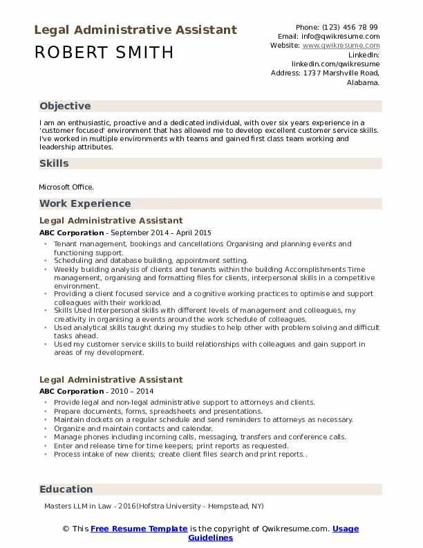 legal administrative assistant resume samples qwikresume title pdf army cpol builder Resume Administrative Assistant Resume Title