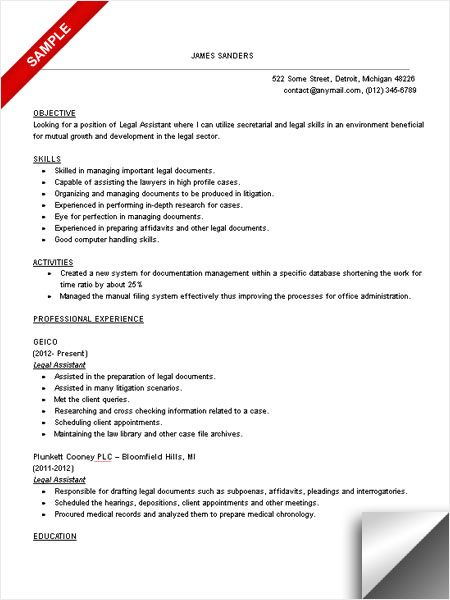 legal assistant resume sample student engineering examples law internship objective Resume Law Internship Resume Objective