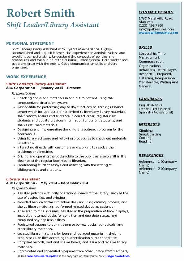 library assistant resume samples qwikresume entry level for pdf colors summary examples Resume Entry Level Resume For Library Assistant