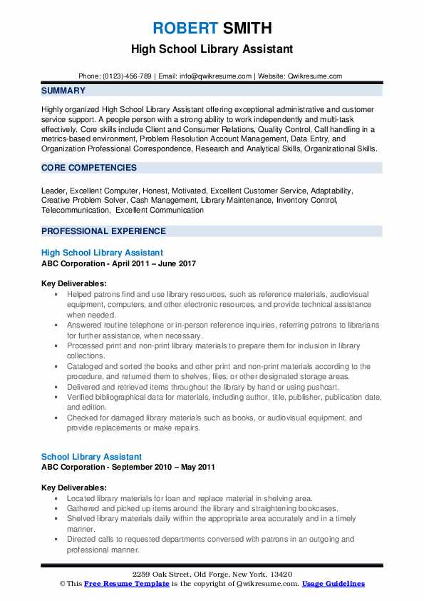 library assistant resume samples qwikresume entry level for pdf telecom business analyst Resume Entry Level Resume For Library Assistant