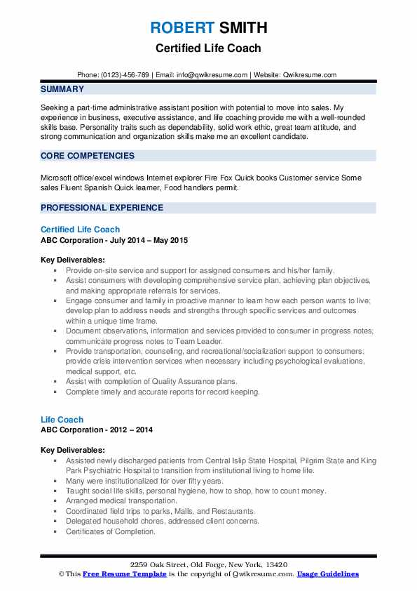 life coach resume samples qwikresume character traits for pdf functional based Resume Character Traits For Resume