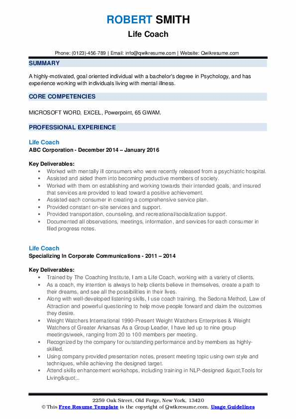 life coach resume samples qwikresume free coaching templates pdf buyer objective examples Resume Free Coaching Resume Templates