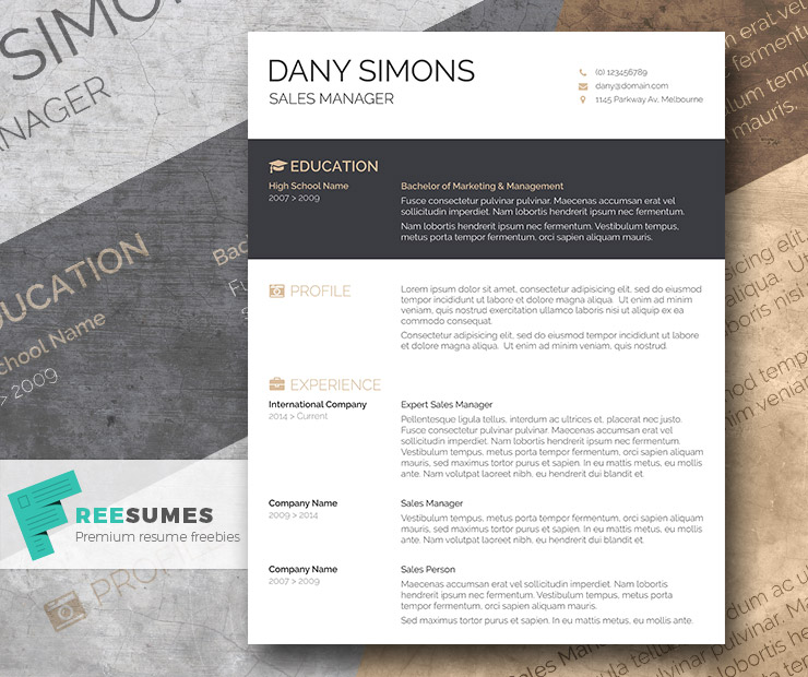 light and dark free cv template the modish applicant freesumes melbourne resume mock Resume Melbourne Resume Template
