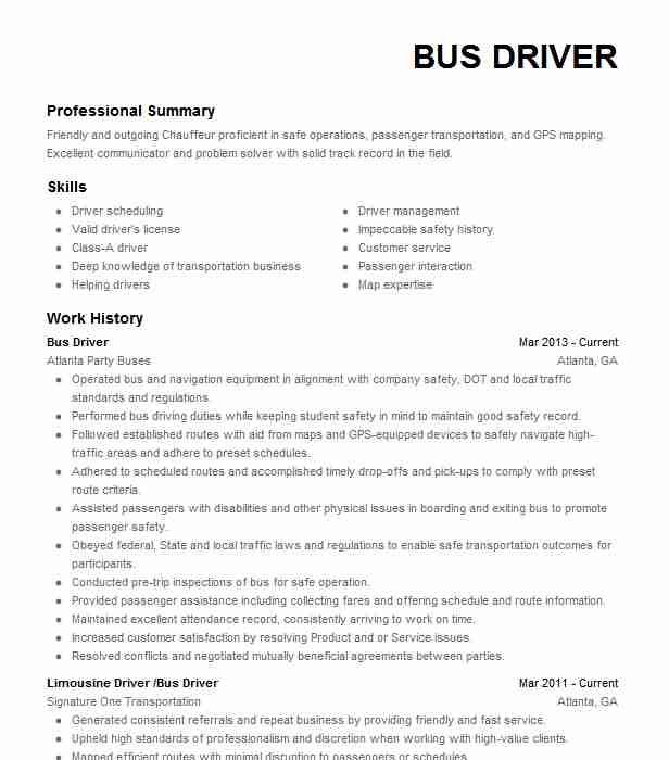 limo driver resume example kctg carey limousine city chauffeur for older workers beyond Resume Limousine Chauffeur Resume