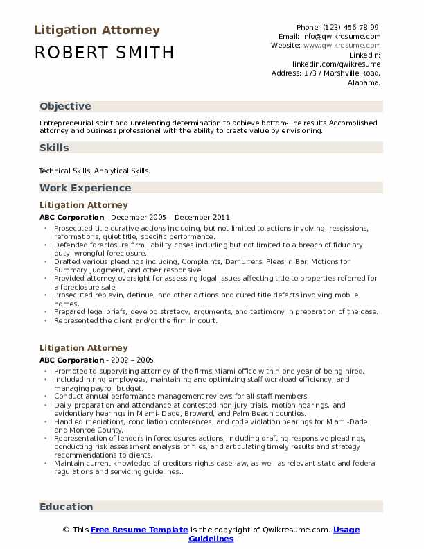 litigation attorney resume samples qwikresume sample pdf quick and easy freelance makeup Resume Litigation Attorney Resume Sample