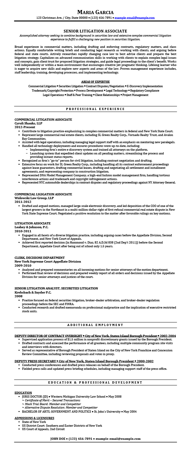 litigation attorney resume samples templates tips attorneyresume sample after ii house Resume Litigation Attorney Resume Sample