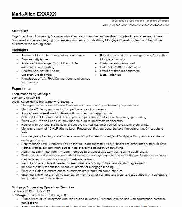 loan processing manager resume example integrated financial group voorhees new mortgage Resume Mortgage Processor Job Description For Resume