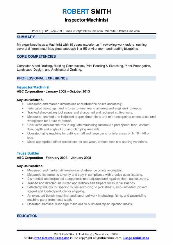 machinist resume samples qwikresume conventional pdf really good social media examples Resume Conventional Machinist Resume