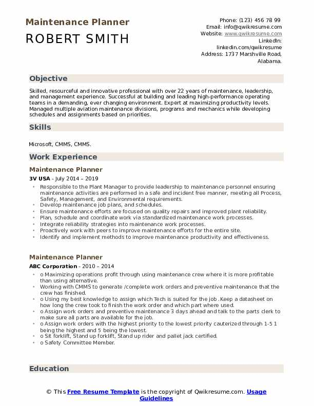 maintenance planner resume samples qwikresume scheduler pdf strong verbs for soccer coach Resume Maintenance Scheduler Resume