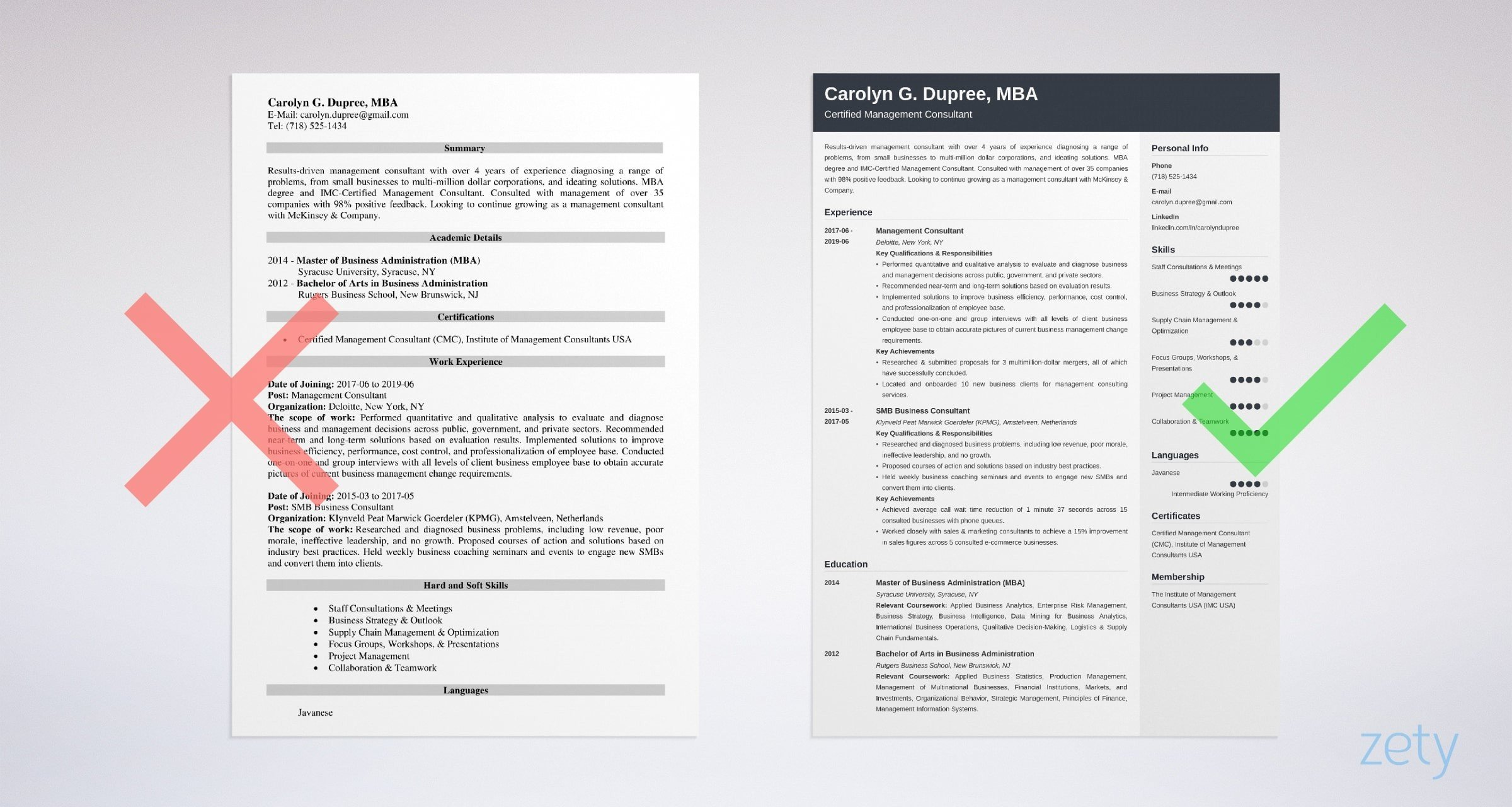 management consultant resume sample guide tips consulting examples mckinsey example Resume Consulting Resume Examples Mckinsey