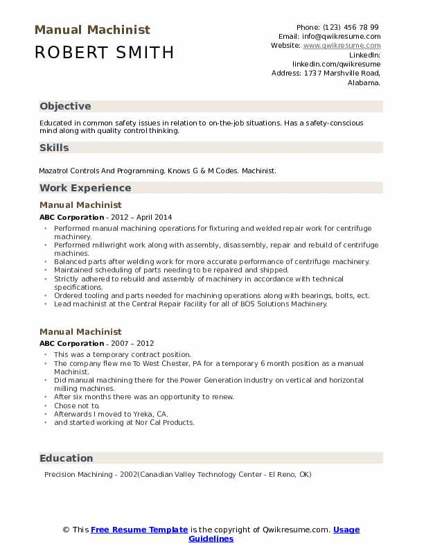 manual machinist resume samples qwikresume conventional pdf examples for teens bitcoin Resume Conventional Machinist Resume
