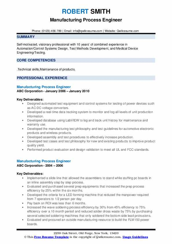 manufacturing process engineer resume samples qwikresume for backend pdf cna job summary Resume Resume For Backend Process