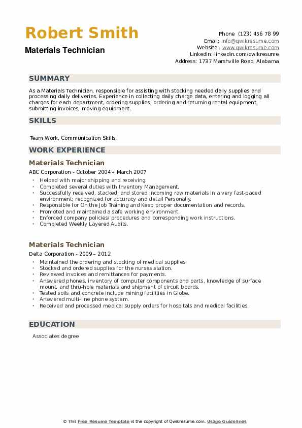 materials technician resume samples qwikresume construction testing pdf functional vs Resume Construction Materials Testing Technician Resume